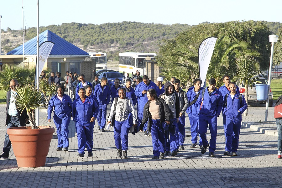 Enthusiastic False Bay TVET College Mechanical Fitting Students attend the Opening Ceremony